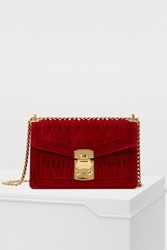 Miu Miu Confidential Velvet Shoulder Bag