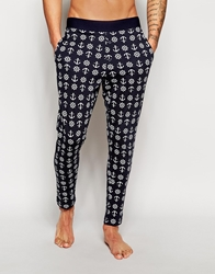 Asos Lounge Pants With Anchor Print Navy