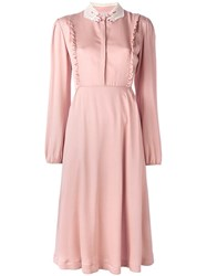 Vivetta Midi Longsleeve Dress Pink Purple