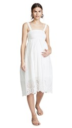 Ingrid And Isabel Embroidered Scallop Hem Dress White