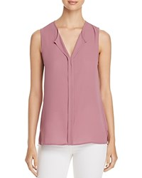 B Collection By Bobeau Lily Pleated Back Sleeveless Top Mauve