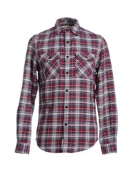 Denim And Supply Ralph Lauren Long Sleeve Shirts Maroon