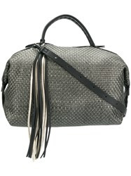 Henry Beguelin Long Tassel Tote Grey