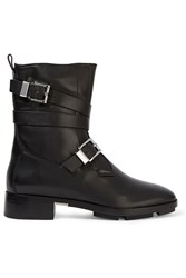 Alexander Wang Louise Shearling Lined Leather Boots Black