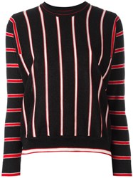 Maison Kitsune Striped Jumper Black