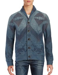 Lucky Brand Novelty Printed Cardigan Indigo