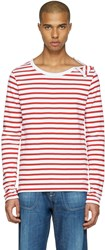 Faith Connexion Red And White Striped T Shirt