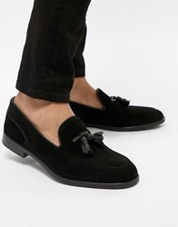 Hudson H By Aylsham Suede Loafers In Black