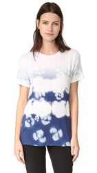 Prabal Gurung Short Sleeve Printed Tee Indigo White