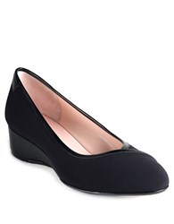Taryn Rose Felicity Wedges Black Stretch
