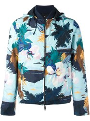 Valentino Reversible Tropical Print Jacket Blue