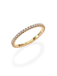 Kwiat Diamond And 18K Yellow Gold Eternity Stacking Ring White Diamond