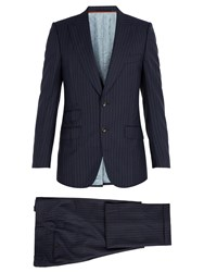 Gucci Pinstriped Wool Suit Navy