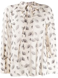 Luisa Cerano Pussybow Embroidered Blouse 60