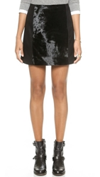 Madewell Calf Hair Mini Skirt Black