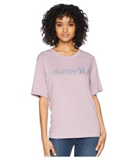 Hurley One And Only Solid Perfect Short Sleeve Crew Elemental Rose Light Carbon Clothing Purple