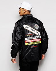 Hype Coach Jacket With Back Print Navy