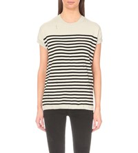 Allsaints Dory Knitted Top Porc Wht Ink B