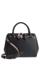 Ted Baker London Small Bowsiia Leather Bowler Bag Black