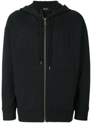 N 21 No21 Three Dimensional Logo Hoodie Black