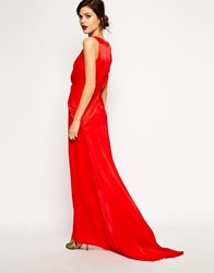 Asos Red Carpet Premium Super Plunge Twist Front Maxi Dress