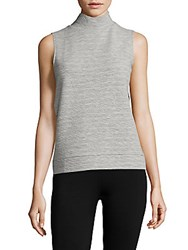French Connection Sudan High Neck Sleeveless Top Light Grey