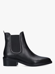 Coach Bowery Bead Leather Chelsea Boots Black