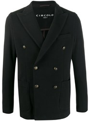 Circolo 1901 Double Breasted Jacket Black