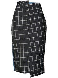 Monse Plaid Pencil Skirt Blue