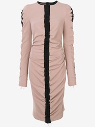 Marco Bologna Ruched Detail Dress Polyester Spandex Elastane Nude Neutrals