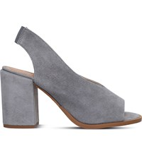Carvela Arlo Peep Toe Suede Court Shoes Grey
