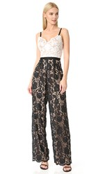 Catherine Deane Hope Lace Jumpsuit Black White