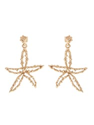 Oscar De La Renta Starfish Clip On Earrings
