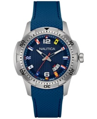 Nautica Men's Navy Silicone Strap Watch 43Mm Nad13515g
