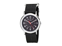 Timex Weekender Slip Through Nylon Strap Watch Black Silver Watches