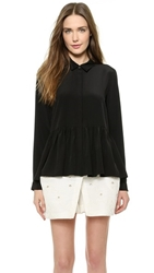 Tibi A Line Blouse Black