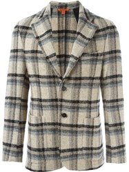 Barena Single Breasted Check Jacket Nude And Neutrals