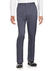 Saks Fifth Avenue Solid Slim Fit Dress Pants Navy