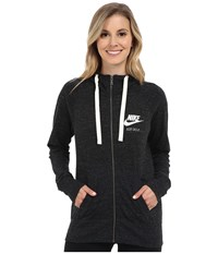 Nike Gym Vintage Full Zip Hoodie Black Sail Women's Sweatshirt