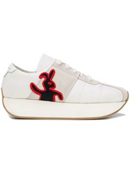Marni Rabbit Patch Sneakers White