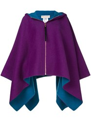 Emilio Pucci Oversized Hooded Cape Pink And Purple