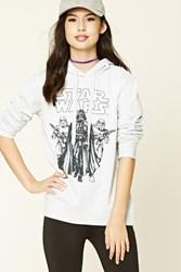 Forever 21 Fleece Star Wars Hoodie Grey Black