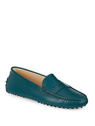Tod's Gommini Leather Moccasins Dark Blue