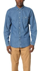 Obey Keble Denim Shirt Light Blue
