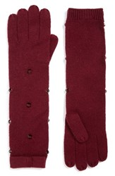Kate Spade Women's New York Embellished Long Gloves Midnight Wine