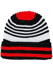 Sonia Rykiel Striped Beanie Black