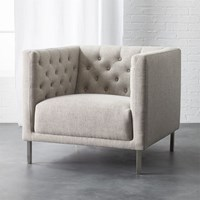 Cb2 Savile Grey Chair