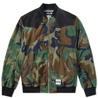 Mr. Completely Camo Reversible Bomber Jacket Green