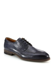 Saks Fifth Avenue By Magnanni Tumbled Leather Derby Shoes Grey Blue