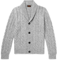 Tod's Cable Knit Cardigan Gray